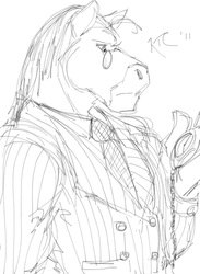 Random Doodle: Thomas the Clydesdale Horse