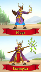 RainFurrest class badges - mage / exemplar