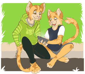 Commission: Hanging Out