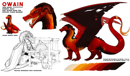 Reference Sheet - Owain for Weisk