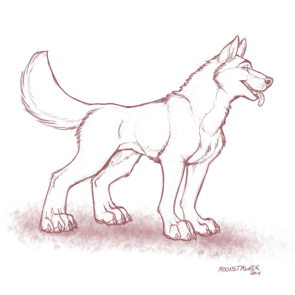 Toony quad wolf
