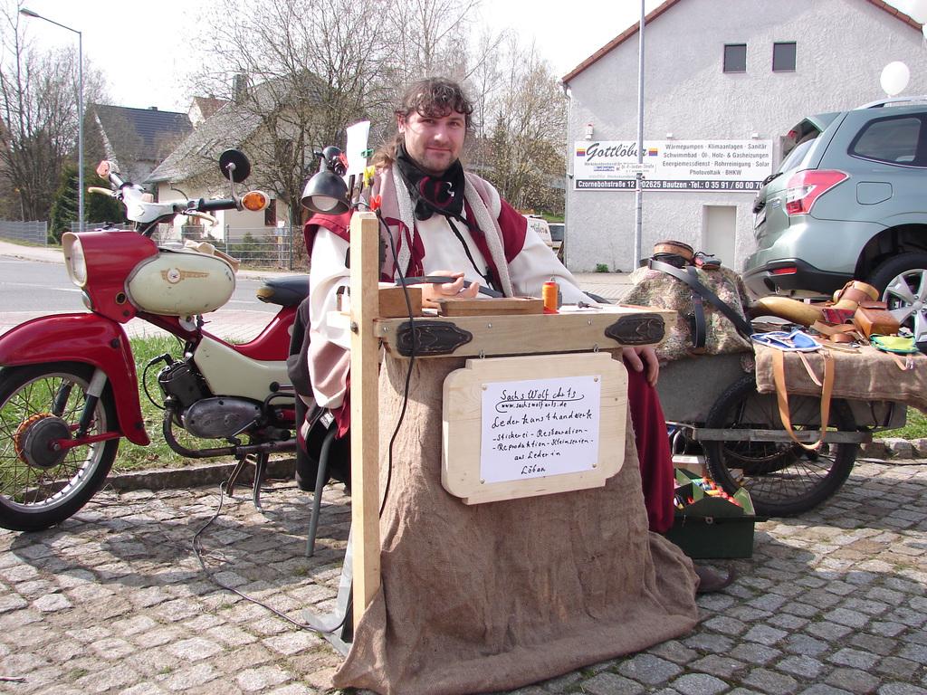 Sachswolf crafting on Spring party in Bautzen/ Sachsen 1/3
