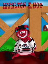 AHL MAX Series Number 20 of 30: Hamilton E. Hog - Rockford Icehogs