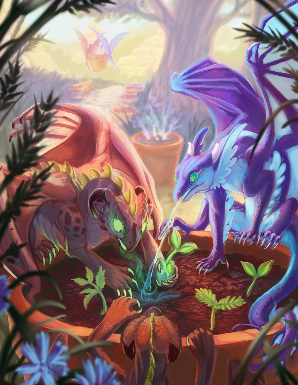 The Mini Dragon Series - Earth and Water - by Acidapluvia