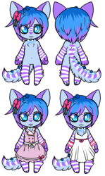 Blueberry - Chibi ref + Clothes