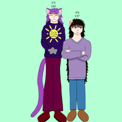 Kaiteki's and Ashley's heights
