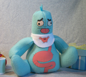Mr Queasy plush toy