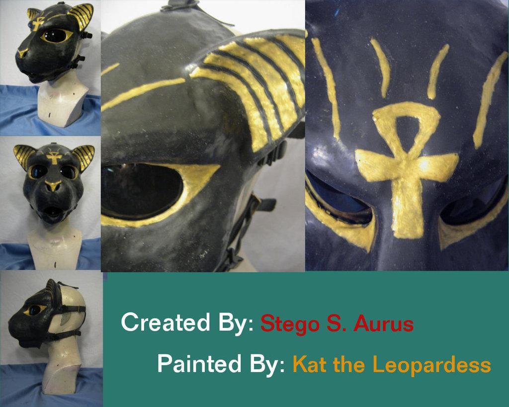 Painted Gas Mask: Bast 3