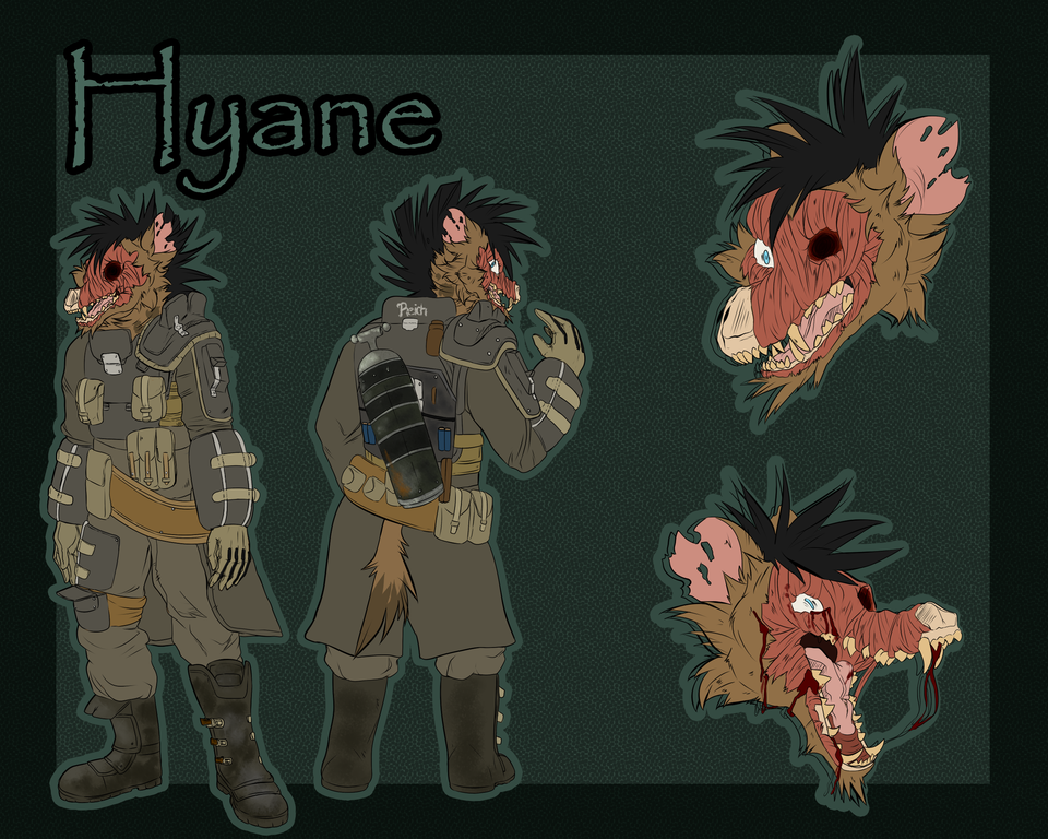 Most recent image: Hyäne ref sheet (Update)