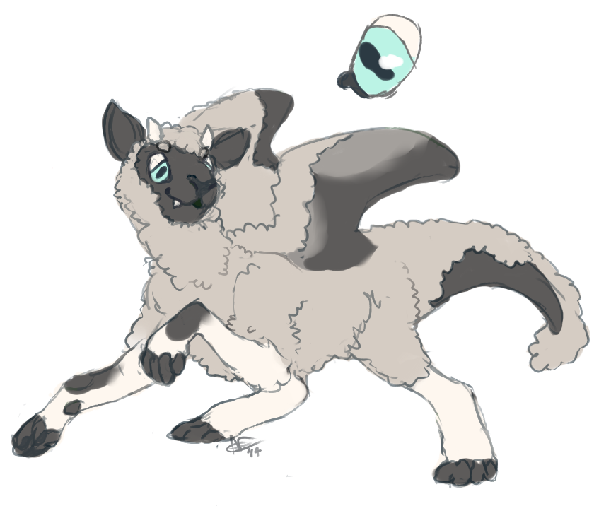 teeny sheepdragon adoptable [closed]