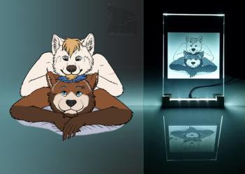 Hioku and Daxter Photo Crystal