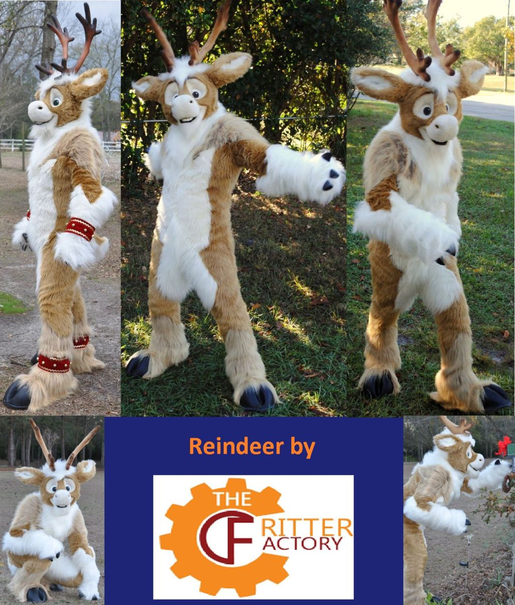 Reindeer Fursuit by The Critter Factory