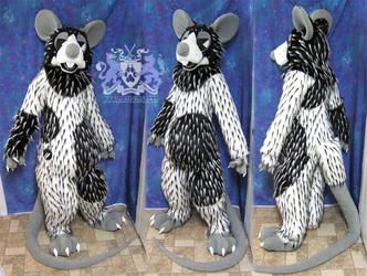 Rorschach Rat Fursuit