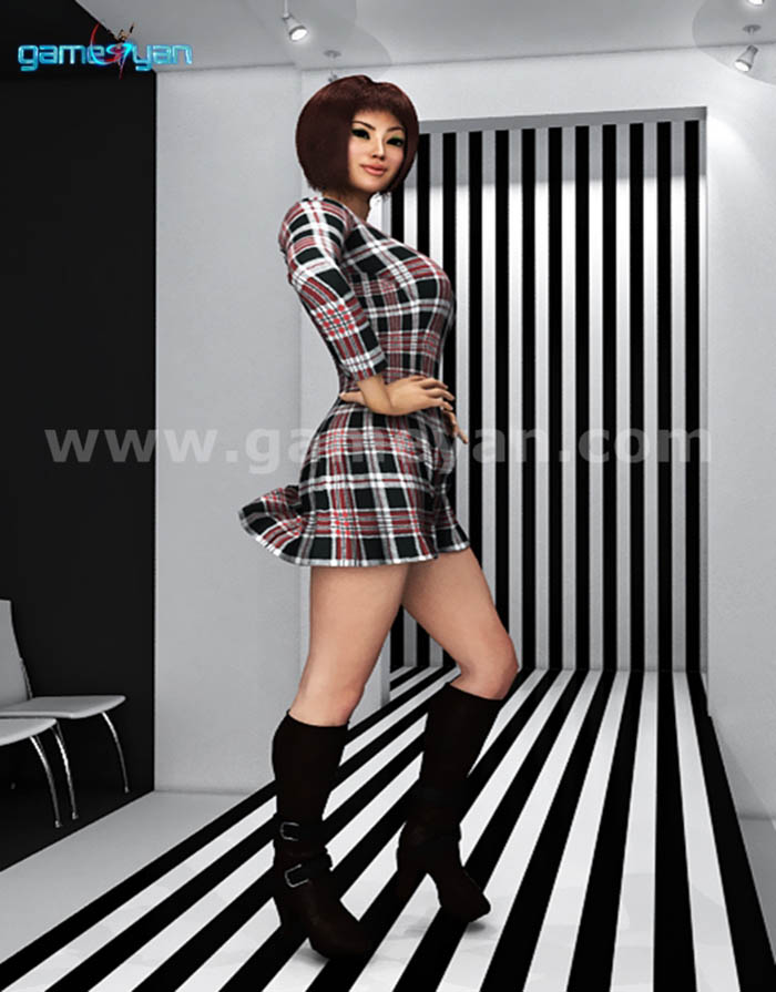 Fashion catwalk model animation by Game Art Outsourcing Studio