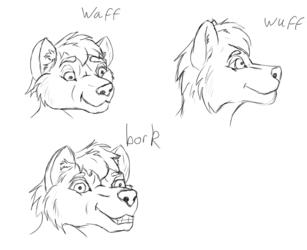 doodle006 Wolf faces