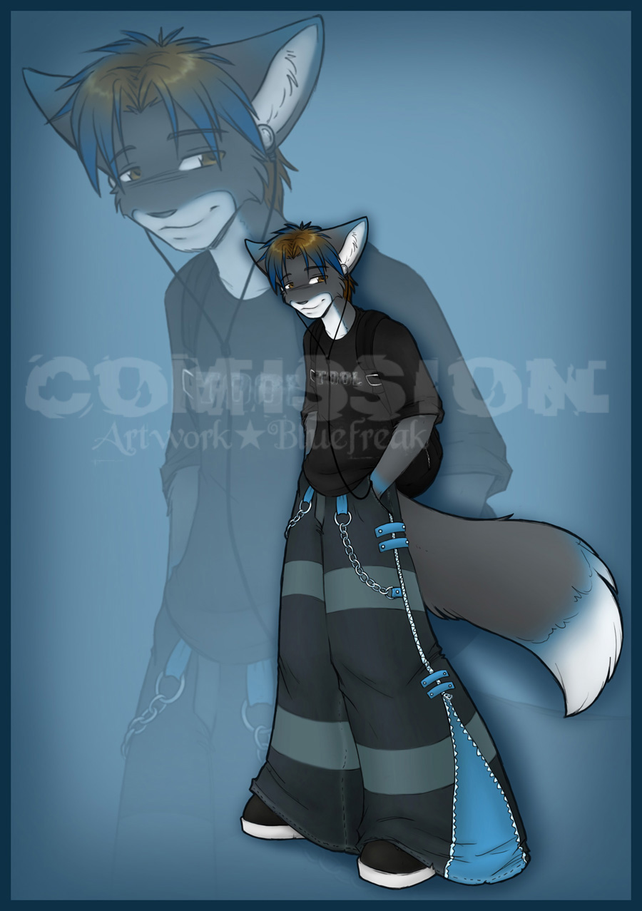 Tinted Blue - Commission by BlueFreak AKA ProjectBlue02