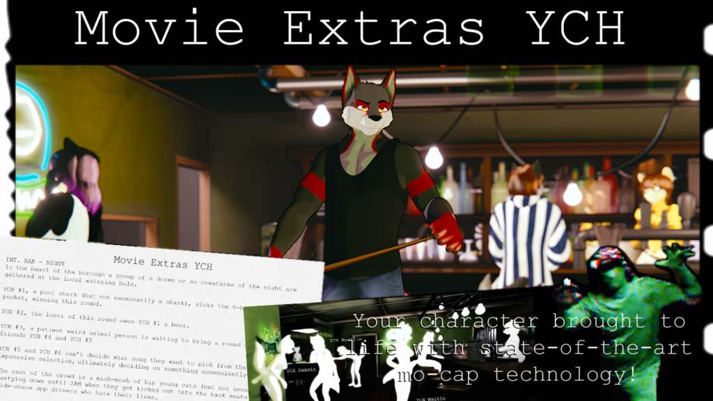 YCH Movie Extras for CGI animated video, mo-capped Promo #2