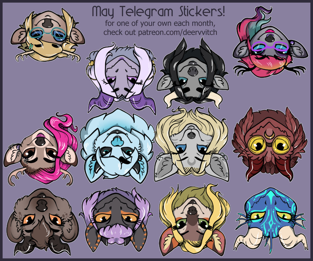 Most recent image: May Telegram Stickers!