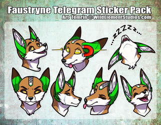 Faustryne Telegrm Sticker Pack
