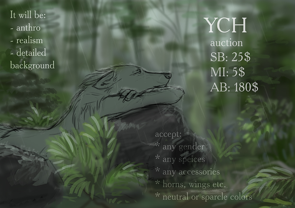 YHC auction [OPEN] - rainy forest