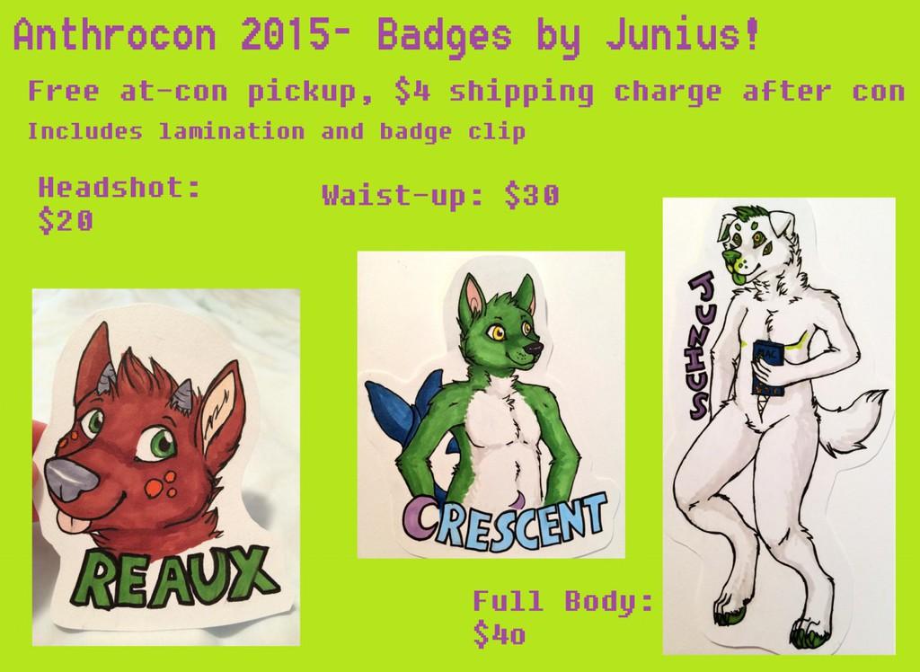 Anthrocon Badges!