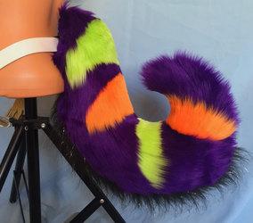 (FOR SALE) Eerie Purple Halloween Fursuit Tail