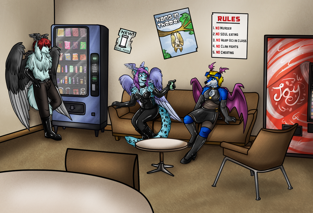 Most recent image: After hours in the staff room