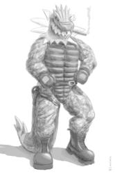 [Commission] Flexing Tyrantrum - Sketch