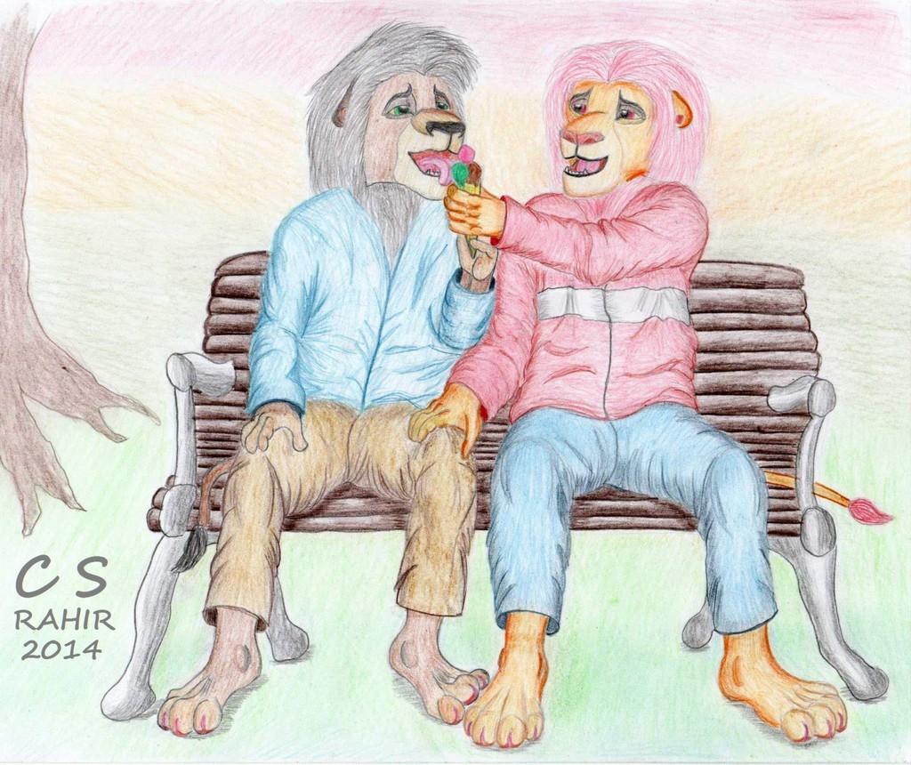 Let me taste that ice cream/Simba x Kovu
