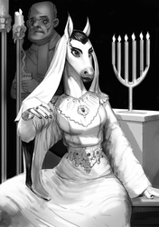 Priestess (and guy that accidentally walked into the shot)