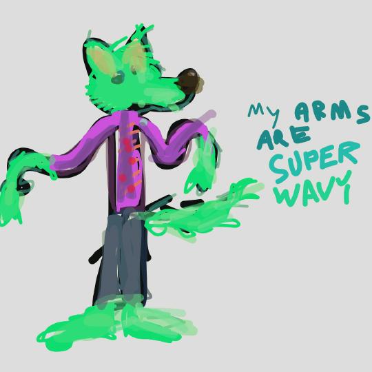 wavy dog