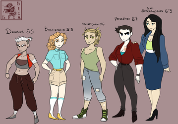 Lady Height Chart