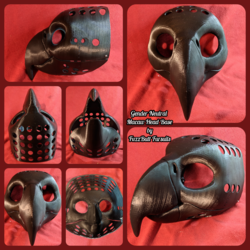 Gender Neutral Macaw Parrot Head Base