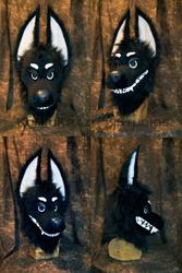 Goth Toy - Canine Head