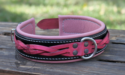 Black & Pink Braided Collar