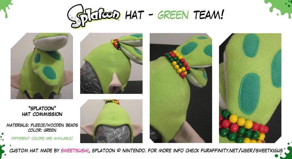 """Splatoon """"Boy"""" Hat - Green Team!"""