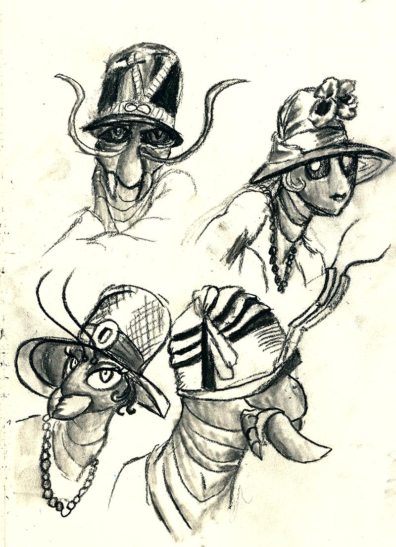 Bugs in hats