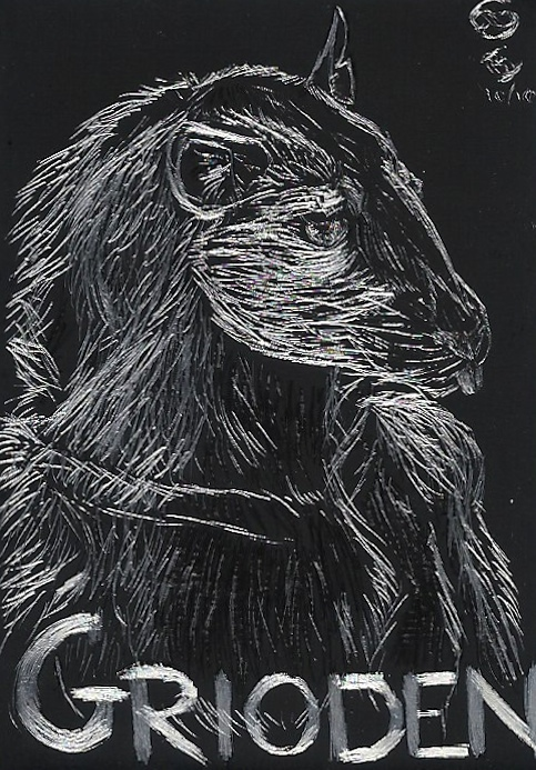 Silver Rat in Black