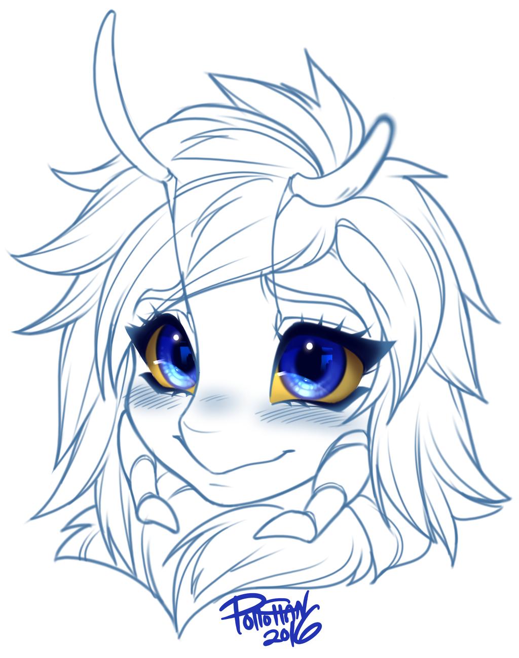 Blushing Sal Portrait