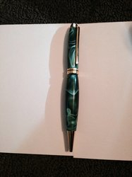 Acrylic Green Pen for my Brother 1