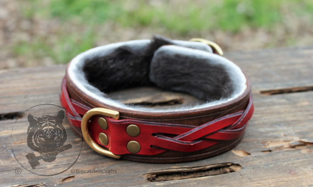Brown & Red Braided Collar