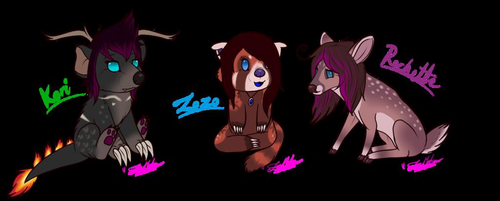 Chibi Kori, ZoZo and Rochette~