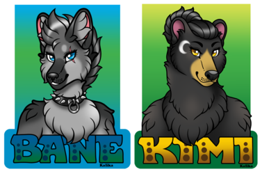 Badges: Bane and Kimi