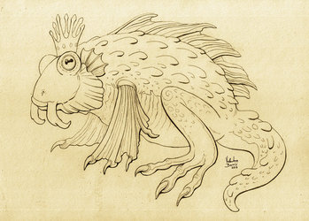 Frog king sketch