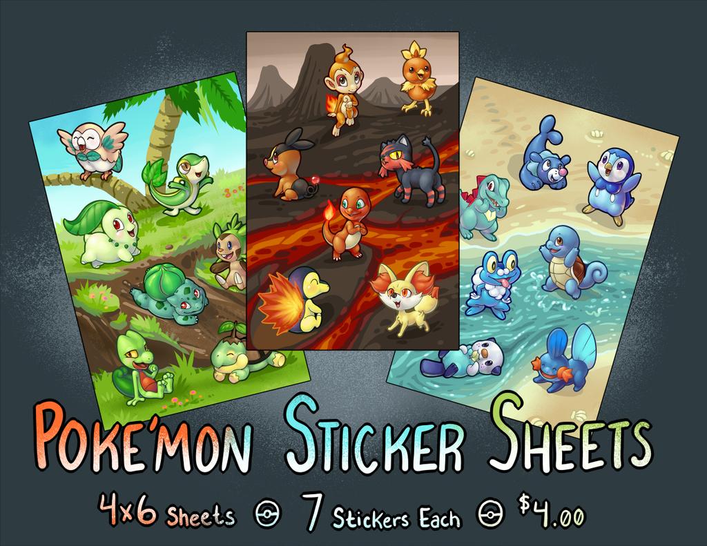 Iggi Ink: Poke'mon Sticker Sheets!