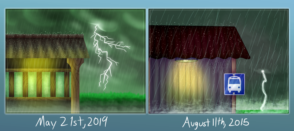 Rainy Station Redraw Comparison