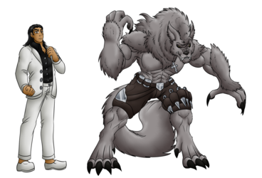 Comm: Roman human and werewolf forms