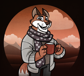 Hipster Fox - with background