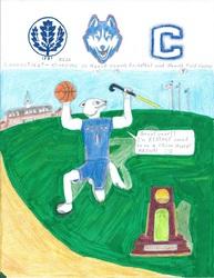 Jonathan Husky is proud of UConn! (fanart)