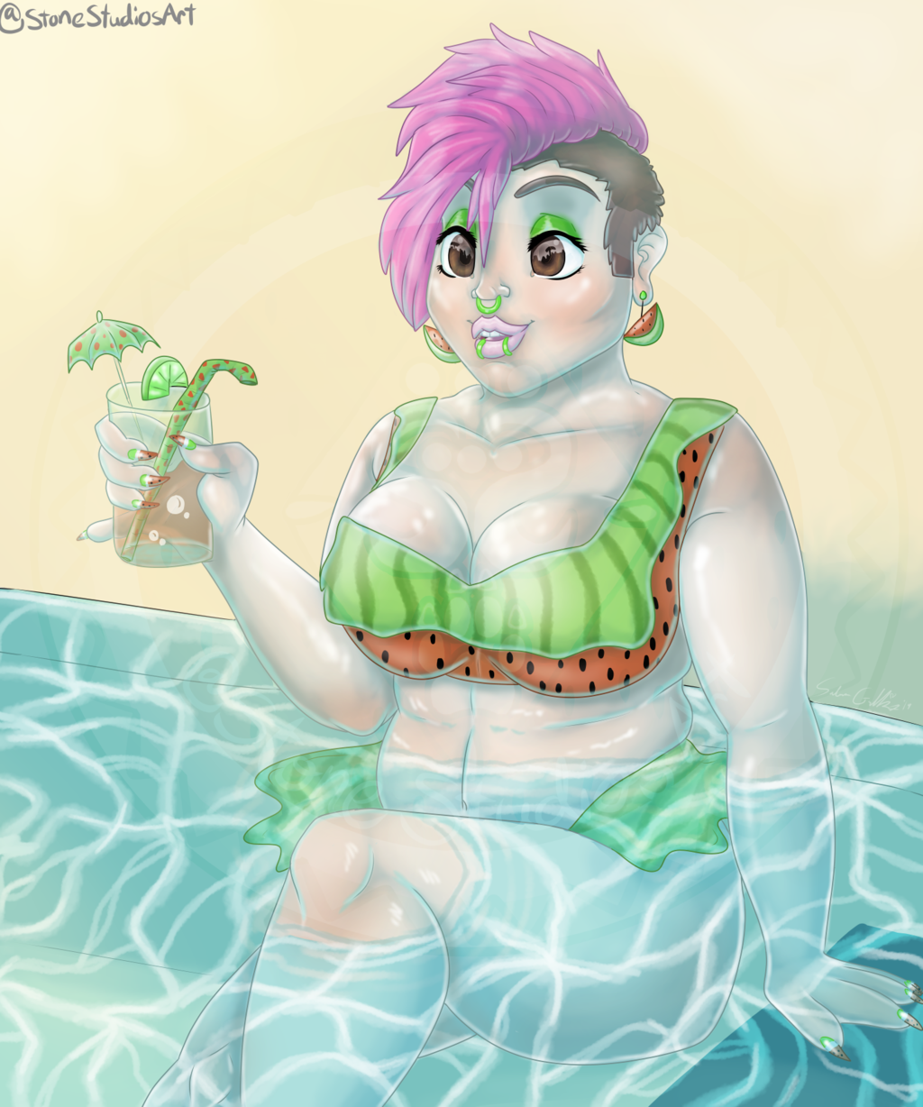 Most recent image: Watermelon Queen - Painting